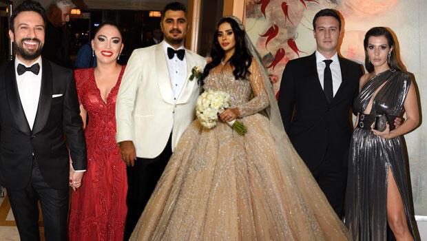 Düğüne yıldız yağdı