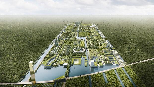 Dünyanın ilk akıllı orman şehri kuruluyor 130 bin kişi yaşayacak...