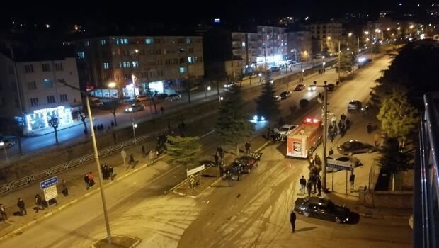 KASTAMONU'DA ALKOLLÜ SÜRÜCÜ KAZA YAPTI...