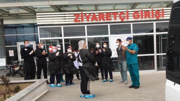 Kırklareli'nin ilk koronavirüs hastası alkışlarla...