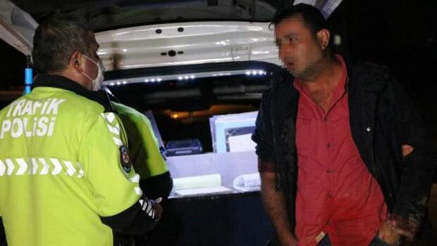Alkollü sürücü bütün cezaları yedi, polise direndi: Benim arabam var onunla gideceğim