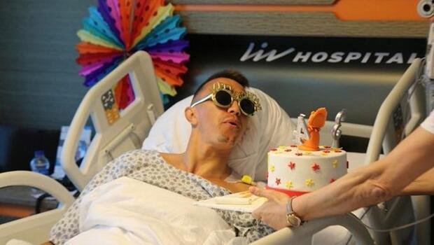Fernando Muslera'ya hastanede doğum günü kutlaması
