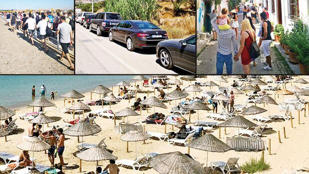 Yerli turist Bozcaada'ya koştu, kilometrelerce feribot kuyruğu oluştu! Adadaki fiyatlar katlandı