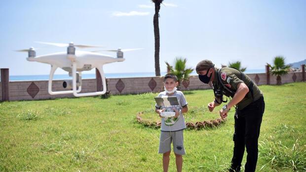 Çocuklar ilk kez drone uçurdu, ortaya bu görüntüler çıktı