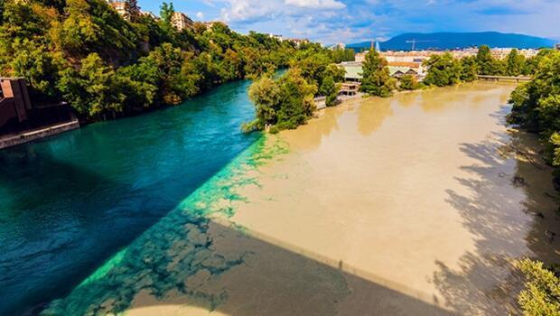 Dünyanın en sıra dışı yeri...Nehir birbirine karışmıyor, adeta kalemle çizilmiş gibi