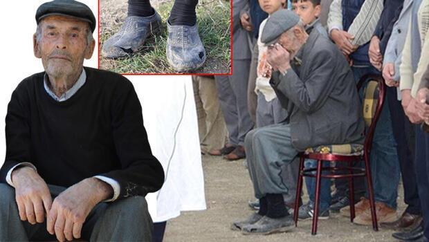 Oğlunun cenazesine yırtık lastik ayakkabılarıyla katılması yürek burkmuştu... Kahreden haber