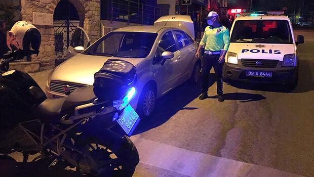 İzmir polisinden kaçan otomobili Kuşadası polisi yakaladı