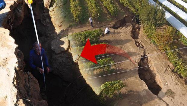 Manisa'da tedirgin eden görüntü! Fay hattında dev yarıklar oluştu...