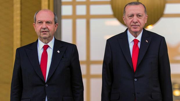 Son dakika haberi... Cumhurbaşkanı Erdoğan ve Ersin Tatar'dan önemli açıklamalar