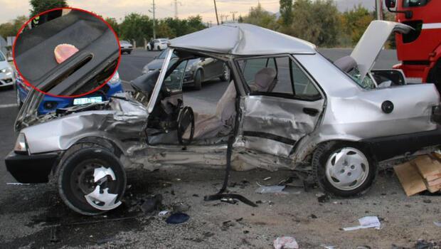 Elazığ'da feci kaza! Dikkat çeken görüntü