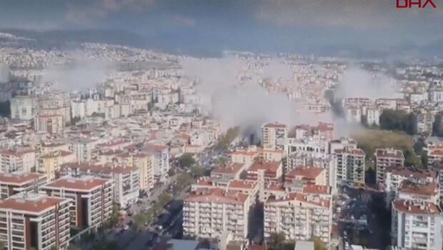 Son dakika haberleri: İzmir'deki şiddetli depremden ilk görüntüler geldi! İstanbul'da hissedildi…