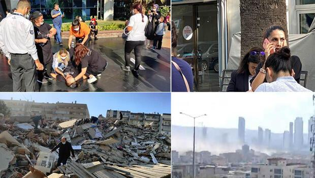 Son Dakika: İzmir'de meydana gelen 6.6 büyüklüğündeki depremin ardından ilk görüntüler