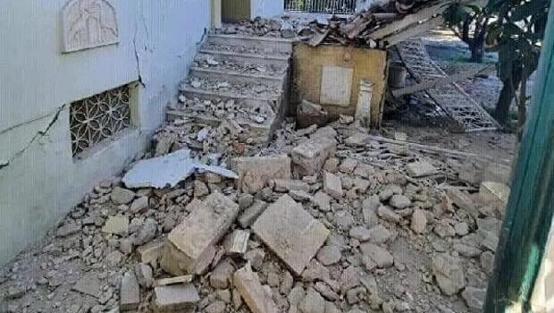 Son dakika: Depremin merkez üssü Yunan adası Sisam'dan (Samos) ilk görüntüler
