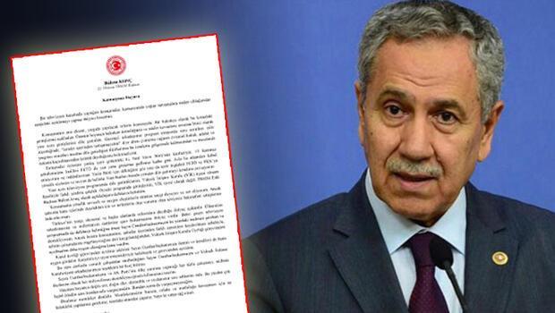 Son dakika… Bülent Arınç istifa etti.. İşte Bülent Arınç'ın sosyal medyadan paylaştığı o istifa metni: