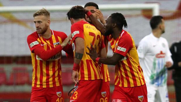 Kayserispor 2-1 Çaykur Rizespor / Maç sonucu