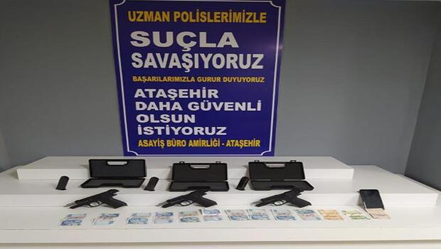 Ataşehir'de yasa dışı silah ticareti yapanlara operasyon