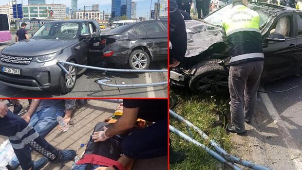 İstanbul Beşiktaş'ta feci kaza! Makas atarak ilerliyordu… 4 yaralı 11 araç hasar gördü