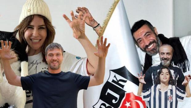 Beşiktaşlı ünlü isimlerin şampiyonluk sevinci
