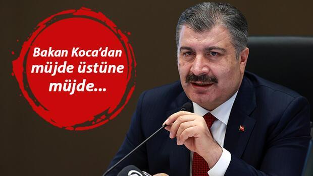Son dakika haberler.. Sağlık Bakanı Fahrettin Koca 'Artık iyice hızlandık' mesajıyla duyurdu! Bir müjde daha..