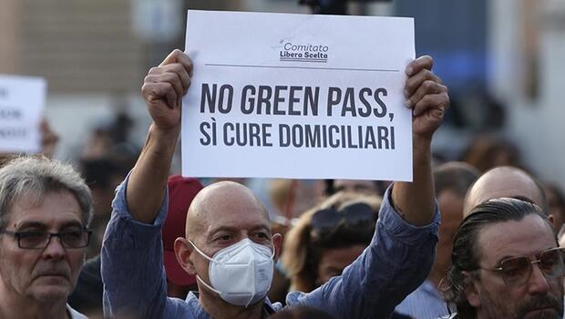 İtalya'da 'Yeşil Geçiş' belgesine yönelik protestolar sürüyor