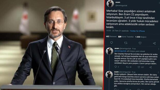 'Ecem Güçlük'ün paylaşımları çok konuşulmuştu... İletişim Başkanı Fahrettin Altun gerçeği açıkladı