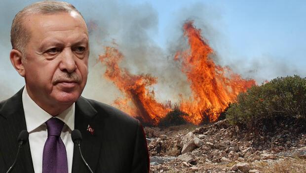 Cumhurbaşkanı Erdoğan, yangın bölgesindeki Bakanlarla görüştü