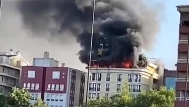 Ankara'da otelde korkutan yangın