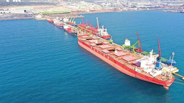 İskenderun Limanı'nda 1 milyon tonluk rekor