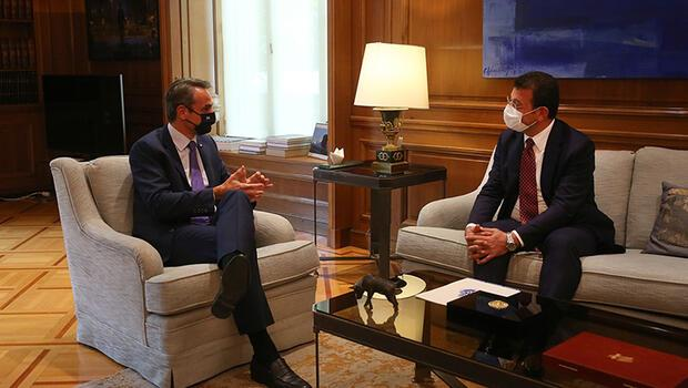 Yunanistan Başbakanı Miçotakis, İBB Başkanı İmamoğlu'nu kabul etti