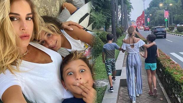 İki çocuğunu da alıp İstanbulu terk etti... Endonezyada yeni hayat