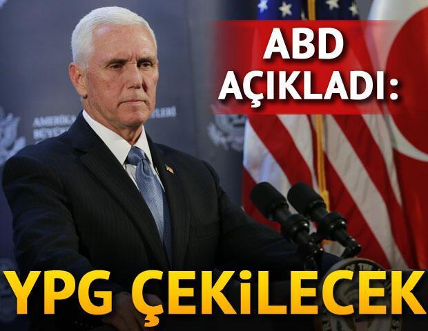 Son dakika...  ABD heyeti açıkladı: YPG çekilecek