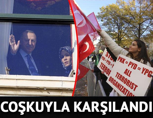 Cumhurbaşkanı Erdoğan coşkuyla karşılandı