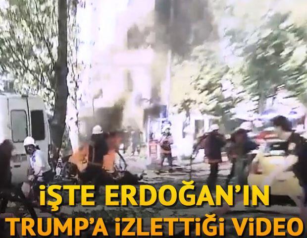 Son dakika İşte Erdoğan'ın Trump'a izlettiği video