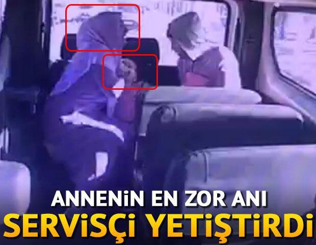 Annenin en zor anı... Servisçi yetiştirdi