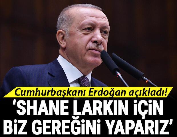 Cumhurbaşkanı Recep Tayyip Erdoğan açıkladı Shane Larkin...