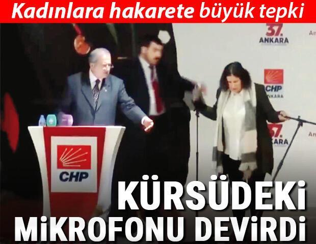 Kadınlara hakarete tepki Ankara'da gergin kongre