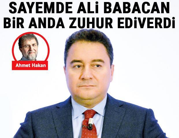 Sayemde Ali Babacan bir anda zuhur ediverdi