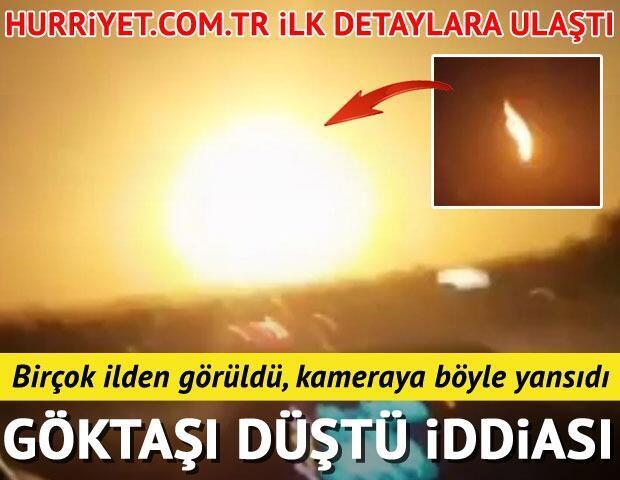 Göktaşı düştü iddiası Trabzon ve Erzincan gibi birçok ilden görüldü... Hürriyetcomtr ilk detaylara ulaştı