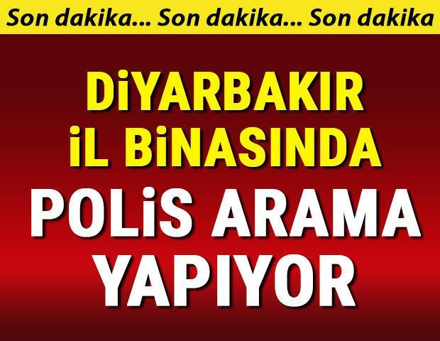 Son dakika... Diyarbakırda HDP İl Binasında polis arama yapıyor