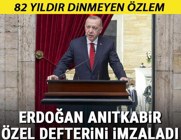 Son dakika... Atatürkün aramızdan ayrılışının 82. yılı... Devletin zirvesi Anıtkabirde