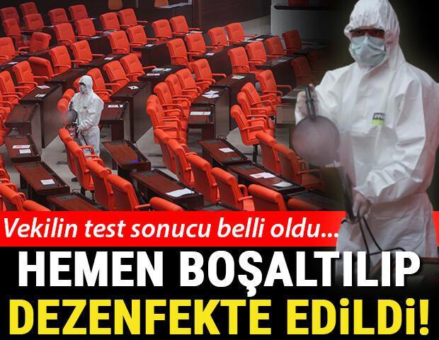 Son dakika haberler... Vekilin test sonucu belli oldu... Salon hemen boşaltılıp dezenfekte edildi
