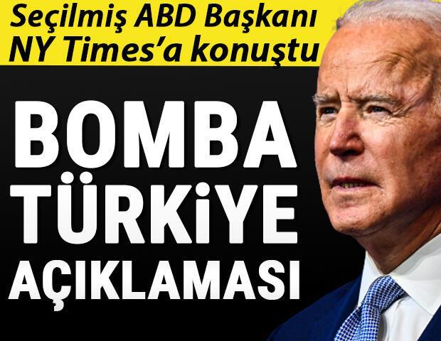 Son dakika... Seçilmiş ABD Başkanı Bidendan bomba Türkiye açıklaması