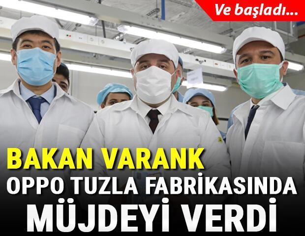 Bakan Varank açıkladı Opponun Tuzla fabrikasında test üretimi başladı