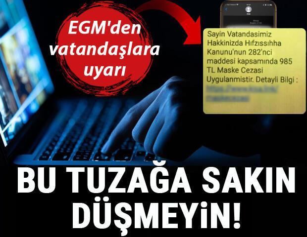 EGMden vatandaşlara uyarı Bu linke sakin tıklamayın