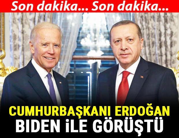 Son dakika Cumhurbaşkanı Erdoğan, ABD Başkanı Biden ile görüştü