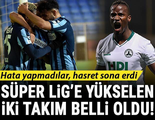 Son Dakika: Adana Demirspor ve Giresunspor, Süper Lige yükseldi Samsunspora galibiyet yetmedi