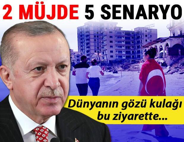 Dünyanın gözü kulağı Erdoğan'ın Kıbrıs ziyaretinde... 2 müjde 5 senaryo