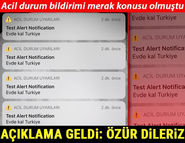 Son dakika: Evde Kal Türkiye acil durum bildirimine ilişkin ilk açıklama Vodafone: Özür dileriz