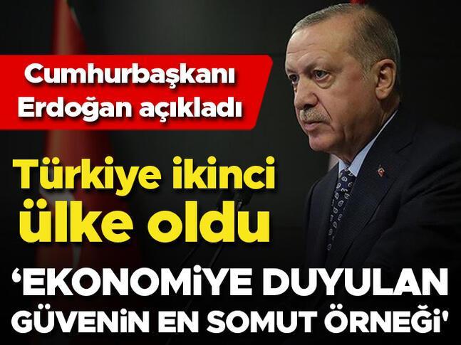 Türkiye ikinci ülke oldu Ekonomiye duyulan güvenin en somut örneği