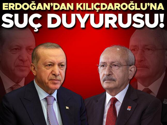 Cumhurbaşkanı Erdoğandan Kılıçdaroğluna suç duyurusu